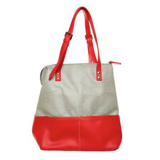 NEW Hand Made Bragbags Two-Tone Pebble Shoulder Bag Red Women