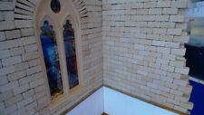 1:35 Scale Diorama Accessories (224) Full Stone Wall Blocks In Buff