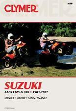 1983 - 1987 Suzuki ATV ALT125, LT125, 185 Clymer Service Repair Shop Manual M381