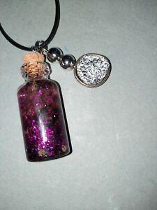 "Handmade Resin Love spell in a Jar Charm 12"" Rope Necklace Ooak #8"