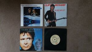 """Cliff Richard - 4 x 7"""" Singles - Slow Rivers, The Only Way Out + 2 others"""
