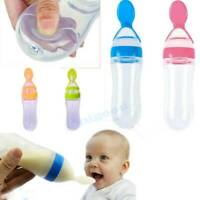 Safety Newborn Baby Feeding Bottle With Spoon Feeder Food Rice Cereal Bottle US