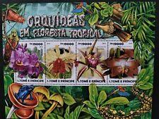 Sao Tome & Principe 2015 / Flowers - Rainforest Orchids /4v minisheet