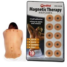 10 x MAGNETIC THERAPY PAIN BODY RELIEF MAGNETS PATCHES PLASTERS NATURAL HEALING