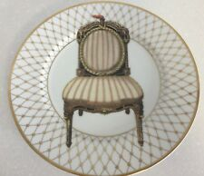 Fitz and Floyd Interieurs Collector Plate Fine Porcelain Hand Painted Tan Chair