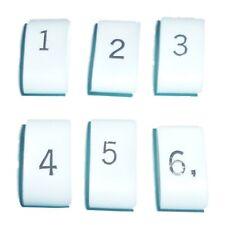 IGNITION HT LEAD NUMBERS 1 - 6 (3:1 Ratio) HEAT SHRINK BLACK ON WHITE HEATSHRINK