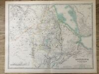 1894 Abyssinia & Upper Nubia Large Antique Map by A.K. Johnston