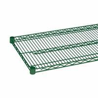 WR74 NSF 15yr Green EPOXY Quantum H//D 74H 4-Shelf Wire Shelving Kit 800lb
