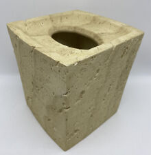Quarry Stone Tan Sand Tissue Cover Bath Accessory Natural Spa Decor Nautical NEW