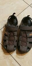 TEVA MEN'S HIKING OUTDOORS SANDALS   BROWN COFFEE COLOR SIZE 13