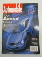AUTOMOBILE MAGAZINE OCTOBER 1999 SPPED ISSUE MERCEDES CLK GTR PORSCHE 911 GT3
