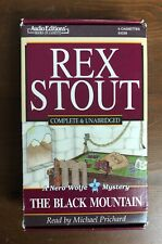 Rex Stout Nero Wolfe Mystery THE BLACK MOUNTAIN Unabridged Audio Book Cassette