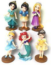 6 PZ Set Disney Principessa Biancaneve, Cenerentola 10cm Action Figure DECORAZIONI PER TORTA