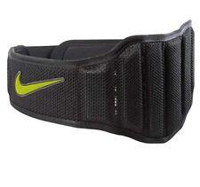 Nike Unisex Structured Training Lifting Belt 2.0 Size Large, Black/Volt