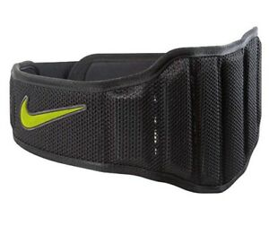 Nike Structured Training Belt 2.0 Size Medium, Black/Volt