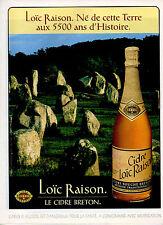 Publicité Advertising 1992   LOIC RAISON   le cidre breton  boisson