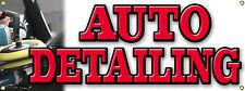 Custom AUTO DETAILING detail auto automobile BANNER SIGN - Car Wash Wax Carwash