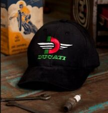 Ducati Black Embroidered Cap Hat - NEW