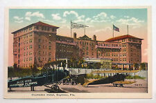 {Bjstamps} Clarenden Hotel Daytona Fl Blue Bird Passenger Planes Postcard