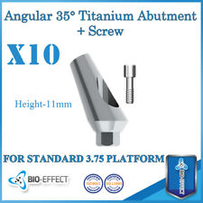 10X Angular Titanium Abutment 35° 11mm + Screws For Internal Hex Dental Implant