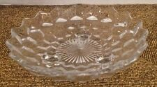 Dish Glass Geometric Pattern Clear Home Decor Candy Nut Display 7""