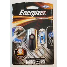 Energizer LED 20 Lumens Keyring Touch Torch Keychain Light Chrome