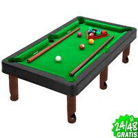 Juego de Billar mesa Pool con Bolas Y Tacos Mini Juegos Americano 26x46 cm