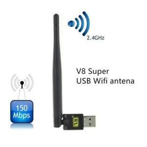 Adaptador WiFi 150Mbps para PC o Portatil con antena, receptor USB wireless LAN