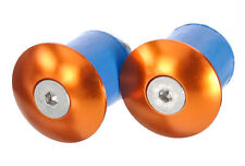 2 Pairs (4 Bar Ends) Alloy Brand-X Screw in Bar End Plugs in Orange