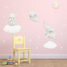 Baby Elephant Wall Decal Cute Animal Star Sticker Children Room Art Wall Sticker