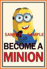 "Become a Minion ( 11"" x 17"" ) Collector's Poster Print - B2G1F"