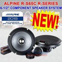 "ALPINE R-S65C 6.5"" 300W LOUD CAR COMPONENT SPEAKERS CROSSOVERS SILK TWEETERS NEW"