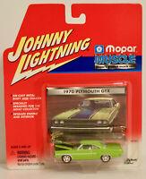 Johnny Lightning White Lightning 1970 Plymouth GTX GREEN Mopar Muscle 1:64