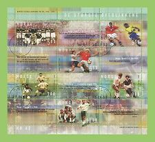 Football Used Sheet European Stamps