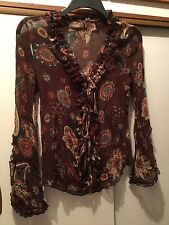 VIVIANE H , A lovely  Floral Ladies Top, size S (Approx 8/10)
