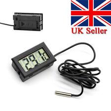 Digital LCD Refrigerator Thermometer Aquarium Fridge Freezer Sensor Probe Black