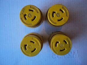 Lot of 4p  Pass & Seymour  NEMA L5-20 Twist Lock 20A 125V Yellow