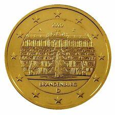++ 2 Euro - Deutschland 2020 - Brandenburg - 24 Karat vergoldet ++