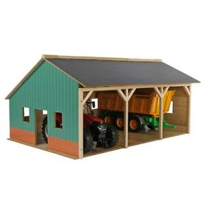 1/16 Farm Machinery 3 Bay Shed Equipment Barn Implement Building Storage 610340