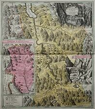 Schweiz - Kanton Uri - Pagus Helvetiae Uriensis... - Seutter 1730 - Rare Karte