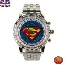 Reloj de Pulsera niño Niña Dama De Moda De Gran Tamaño De Super Man Deportes Cuarzo 2 Colores Nuevo