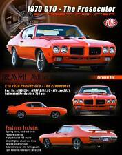 New Acme 1:18 1970 Pontiac Gto Street Fighter - The Prosecutor, Red A1801214