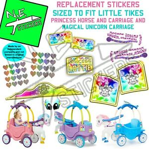 Stickers TO FIT Little Tikes Princess Horse and Carriage Magical Unicorn Ride-on
