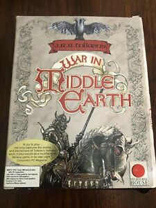"""J.R.R. Tolkien's War in Middle Earth PC 1989 IBM 5.25"""" 3-Discs Boxed Map+ Manual"""