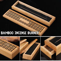 Bamboo Incense Burner Stick Holder Case With Drawer Joss-stick Box