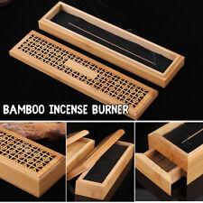 Bamboo Incense Burner Stick Holder Case With Drawer Joss-stick Box