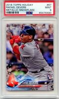2018 TOPPS HOLIDAY RAFAEL DEVERS RC #67 METALLIC SNOWFLAKE PSA 9 MINT! RED SOX