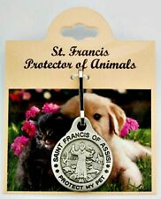 Pewter St. Francis Pet Protection Medal for small sized animals NEW
