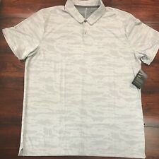 Nike Golf Dry Dri-fit Mens Polo Shirt Camo Light Gray XL Aa1852-021