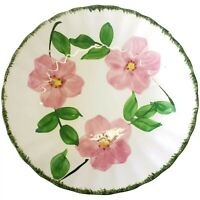"Blue Ridge Southern Pottery 8"" Flat Soup Bowl With Pink Flowers"